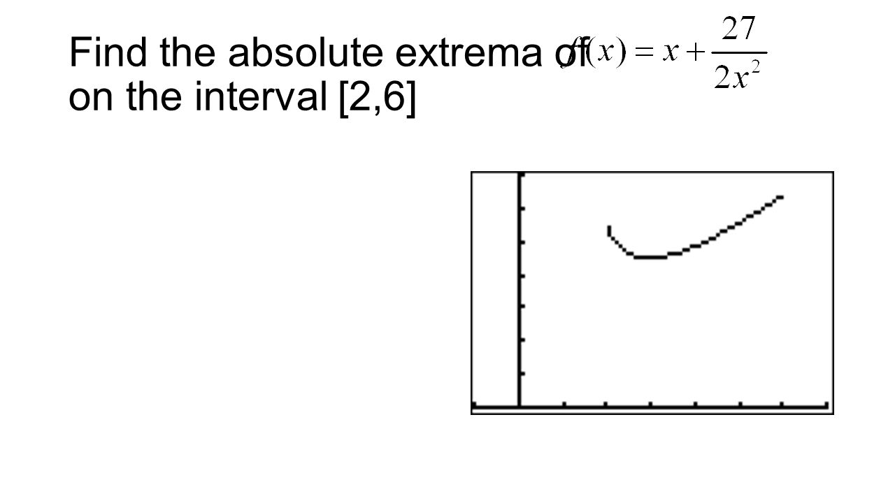 Find the absolute extrema of on the interval [2,6]